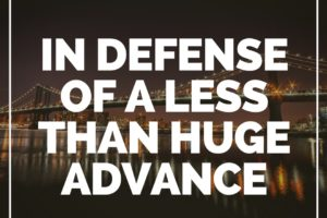 Greatest Hits: In Defense of a Less Than Huge Advance